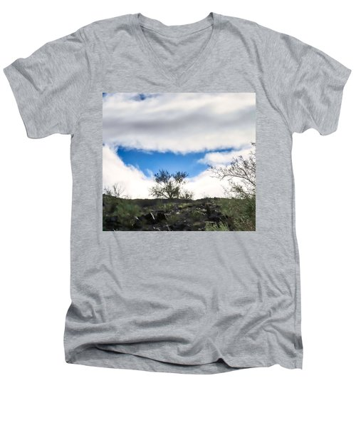 Men's V-Neck T-Shirt featuring the photograph Smile by Judy Kennedy