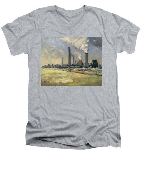 Smoke Stacks Prins Maurits Mine Men's V-Neck T-Shirt