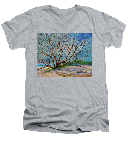 Smyrna Dunes Men's V-Neck T-Shirt