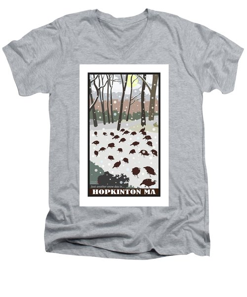 Snow Day In Hopkinton Men's V-Neck T-Shirt