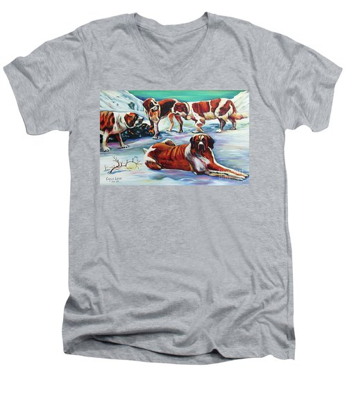 Snow Dogs Men's V-Neck T-Shirt