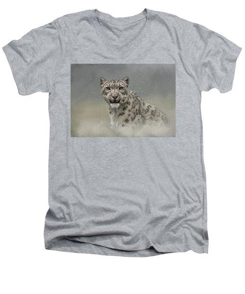 Snow Ghost Men's V-Neck T-Shirt