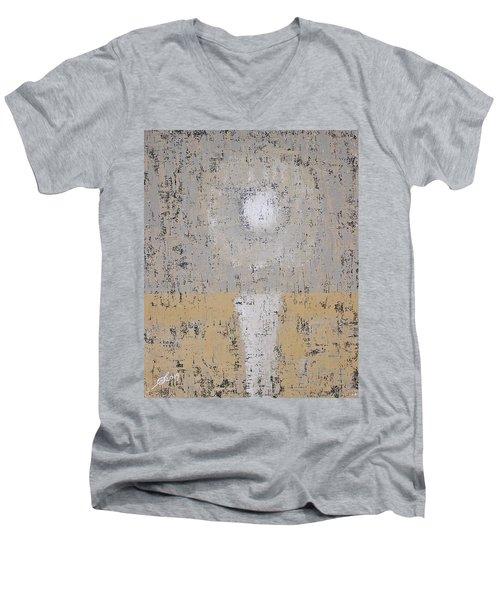 Snow Moon Original Painting Men's V-Neck T-Shirt