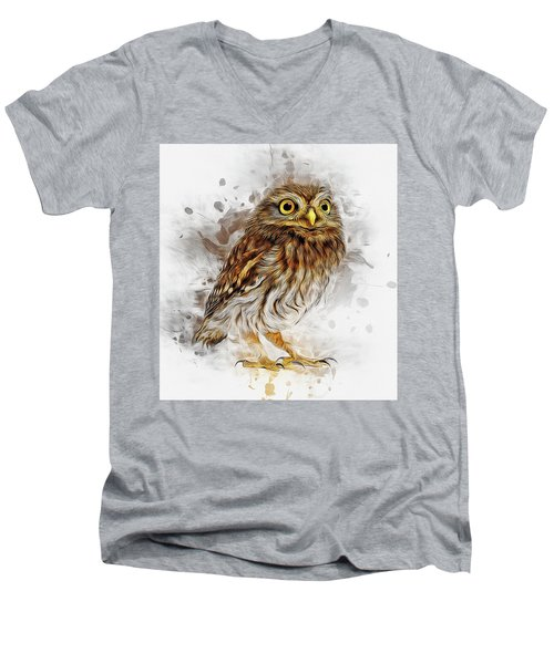 Snow Owl Men's V-Neck T-Shirt