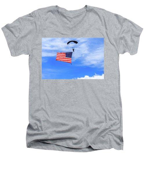 Socom Flag Jump Men's V-Neck T-Shirt