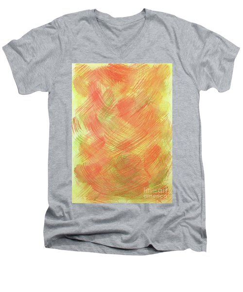 Soft Orange Colors 2 Men's V-Neck T-Shirt