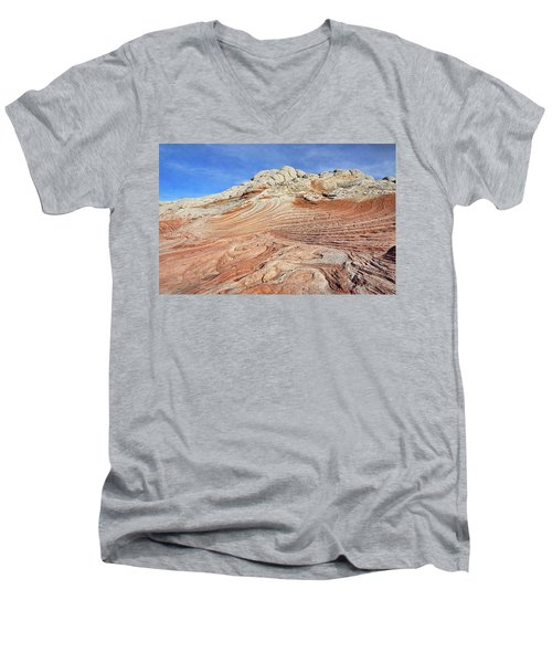Solid Waves Pano Men's V-Neck T-Shirt
