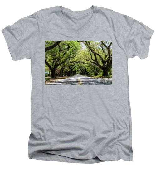 South Boundary Ave Aiken Sc Men's V-Neck T-Shirt