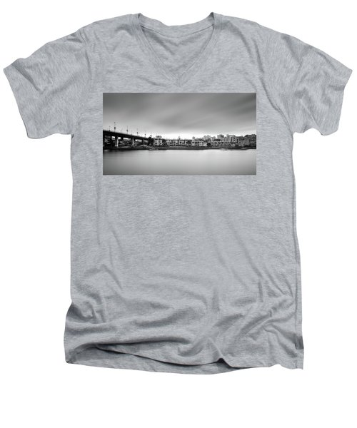 Venice Court, Vancouver Bc, Canada Men's V-Neck T-Shirt