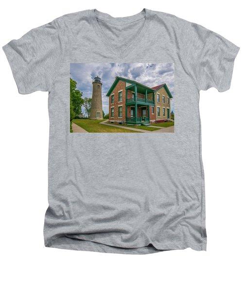 Southport Lighthouse  Men's V-Neck T-Shirt
