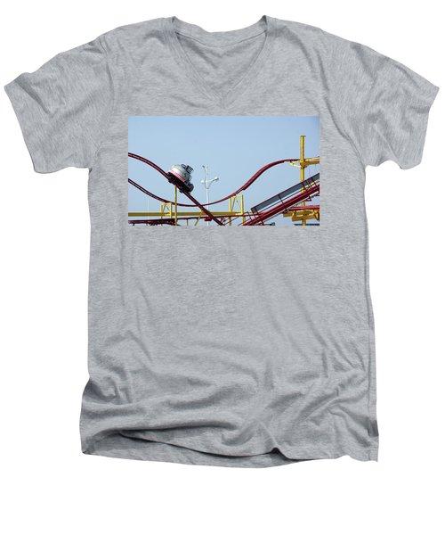 Southport.  The Fairground. Crash Test Ride. Men's V-Neck T-Shirt