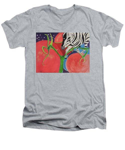 Space Zebra Men's V-Neck T-Shirt