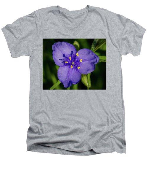Spiderwort Flower Men's V-Neck T-Shirt