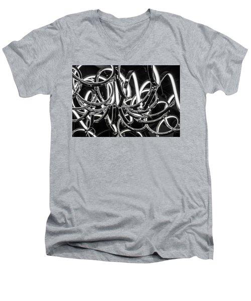Spirals Of Light Men's V-Neck T-Shirt