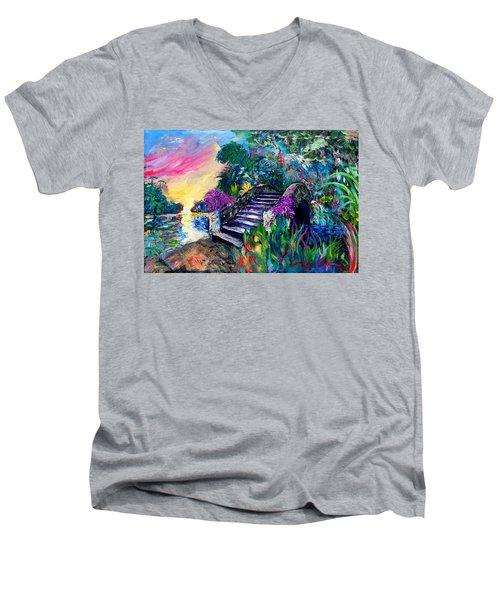 Spirit Bridge Two Men's V-Neck T-Shirt