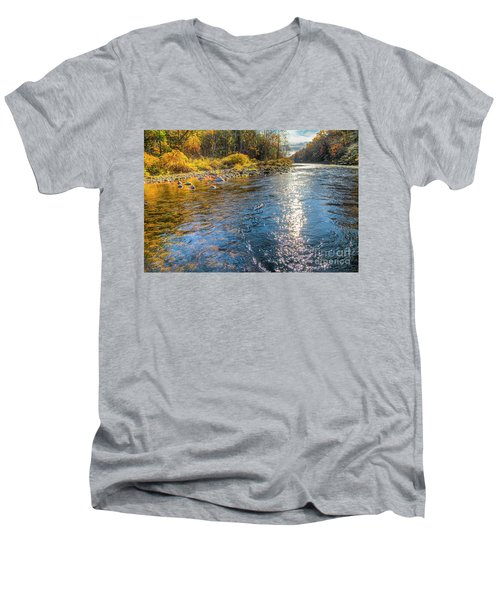 Spring Hole Men's V-Neck T-Shirt