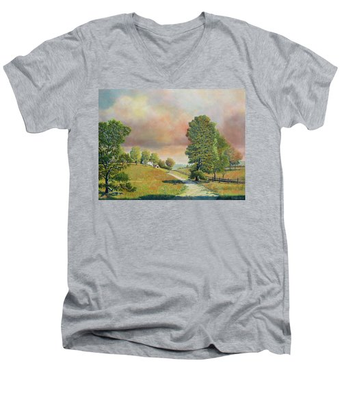 Spring Path Men's V-Neck T-Shirt