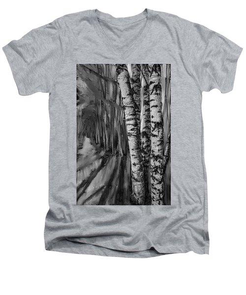 springtime ligh BW #i6 Men's V-Neck T-Shirt