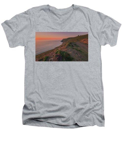 St Agnes Sunset Men's V-Neck T-Shirt