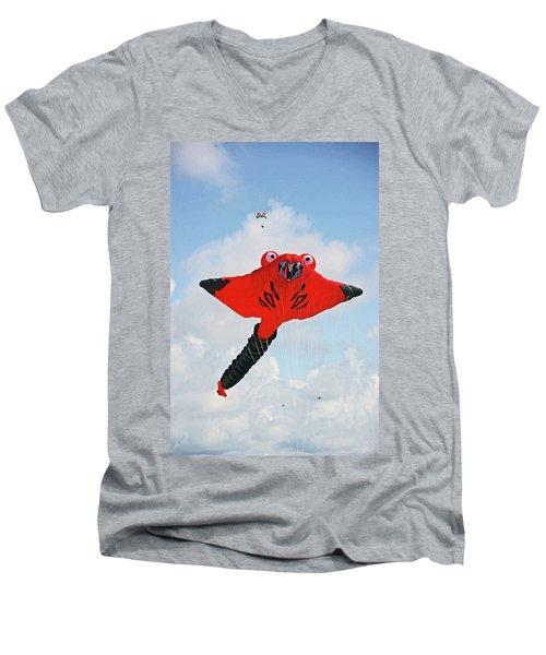 St. Annes. The Kite Festival Men's V-Neck T-Shirt