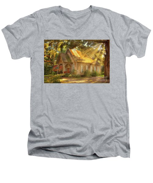 St. James Santee Episcopal Chapel Of Ease Men's V-Neck T-Shirt