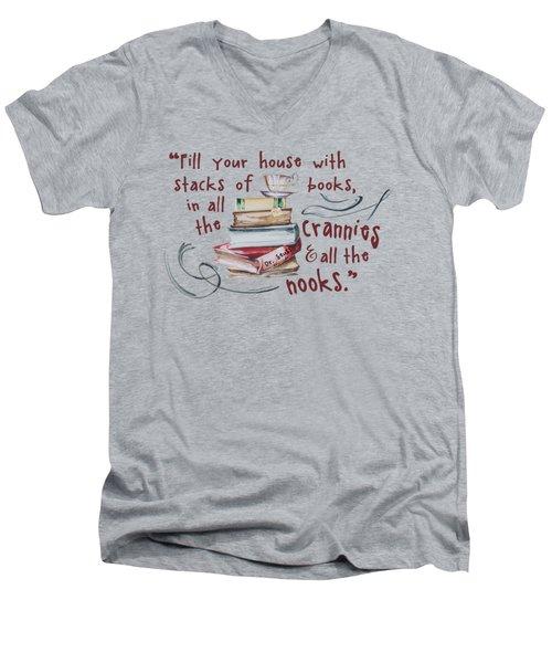 Stacks Of Books Men's V-Neck T-Shirt