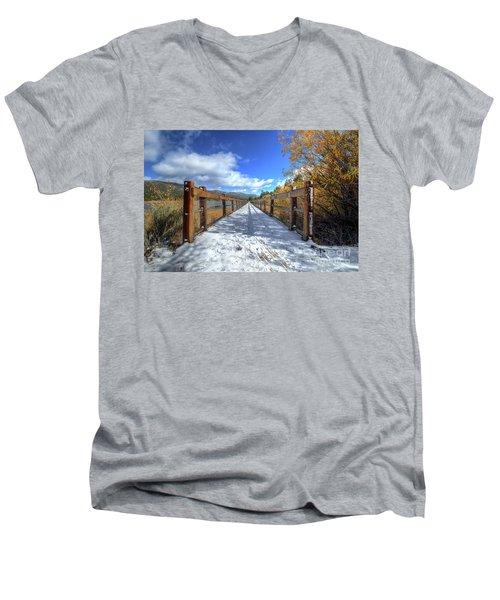 Stanfield Marsh Wildlife And Waterfowl Preserve Bridge Men's V-Neck T-Shirt