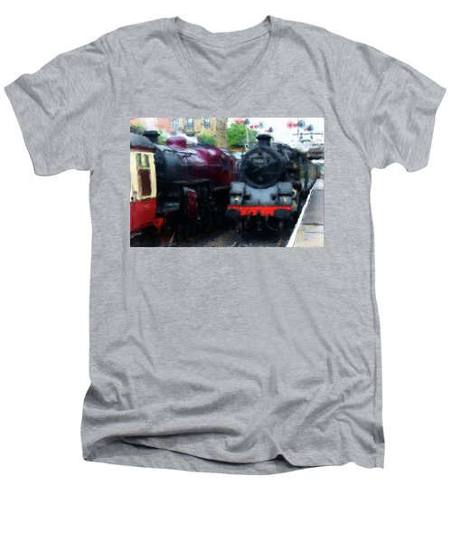 Steam Trains Men's V-Neck T-Shirt