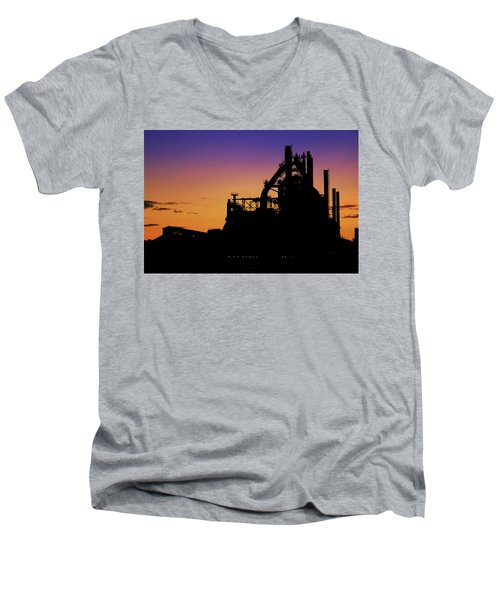Steel City Sunrise Men's V-Neck T-Shirt