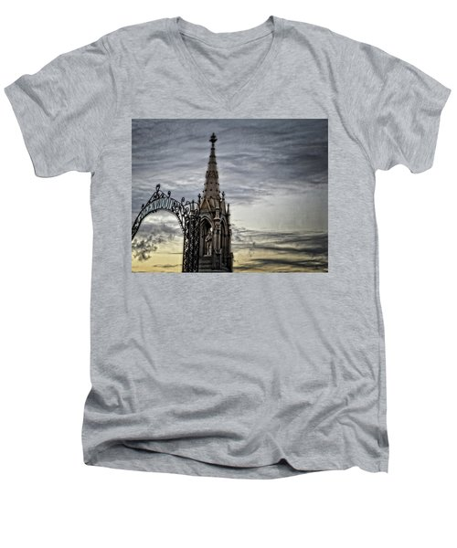 Steeple And Steel Men's V-Neck T-Shirt