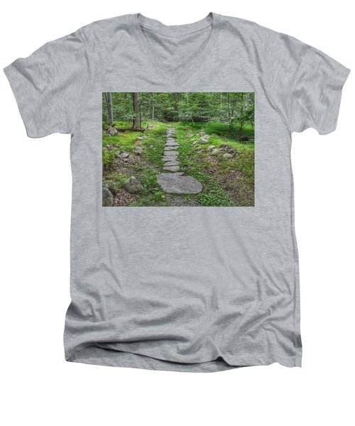 Stepping Stone Path - Kinnelon Men's V-Neck T-Shirt