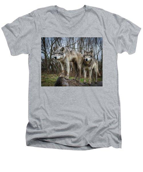 Still Watching Men's V-Neck T-Shirt