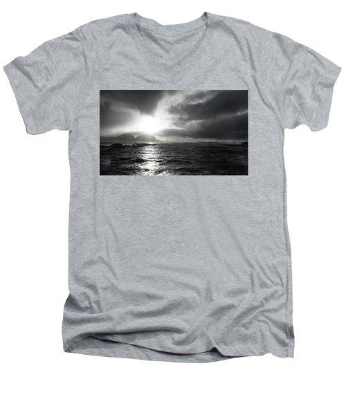stormy coastline in northern Norway Men's V-Neck T-Shirt