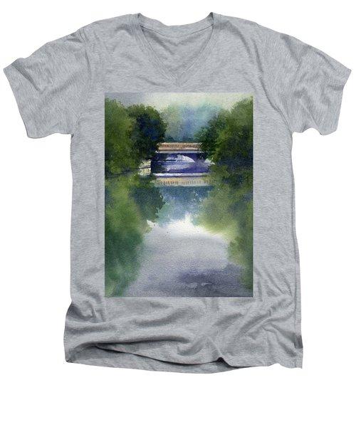 Stormy Day On Bridge Road Men's V-Neck T-Shirt