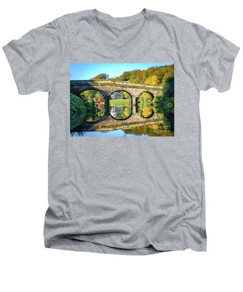Stourhead Autumn Men's V-Neck T-Shirt