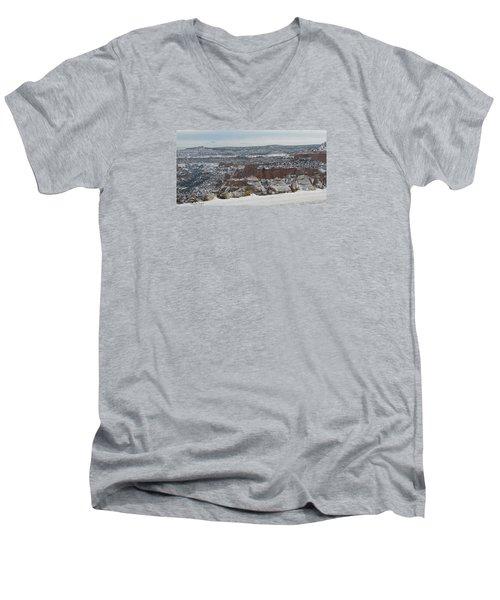 Striped Overview Men's V-Neck T-Shirt
