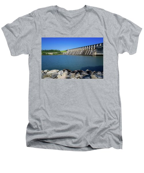 Strom Thurmond Dam - Clarks Hill Lake Ga Men's V-Neck T-Shirt