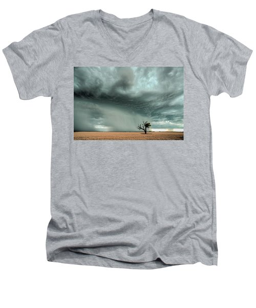 Strong Lone Tree Men's V-Neck T-Shirt