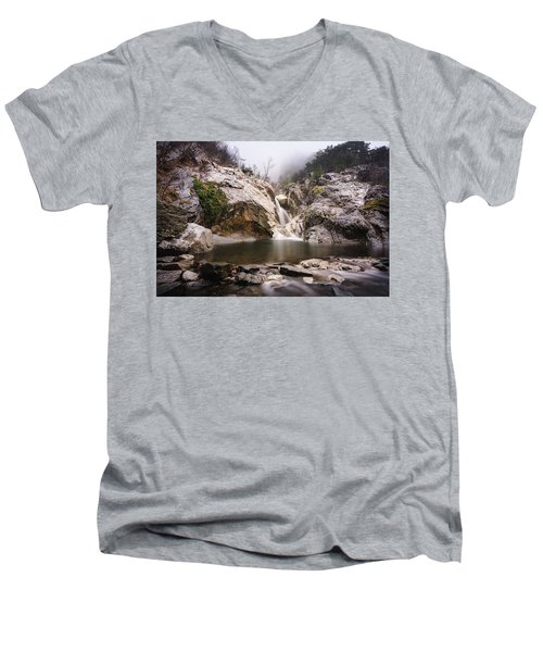 Suchurum Waterfall, Karlovo, Bulgaria Men's V-Neck T-Shirt