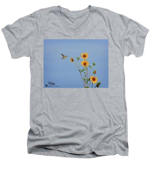 Summer Day Hummingbird Men's V-Neck T-Shirt