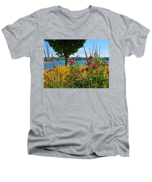 Summer Flowers Vancouver 1 Men's V-Neck T-Shirt