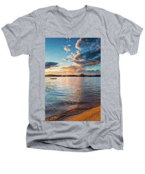 Summer Shower  Men's V-Neck T-Shirt