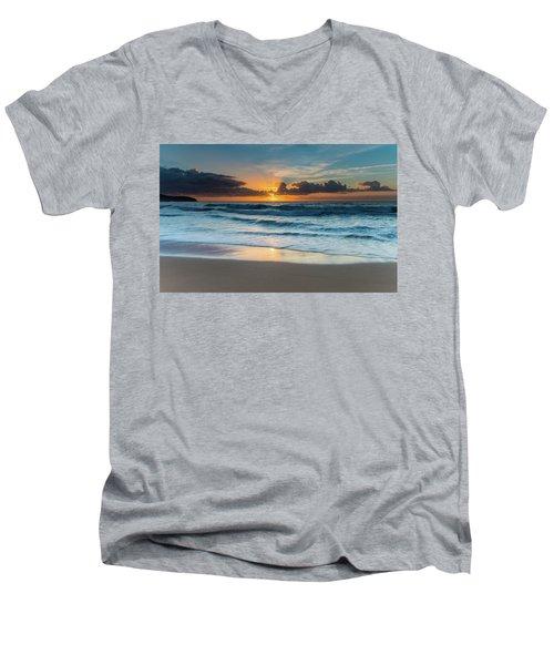 Sun Glow Seascape Men's V-Neck T-Shirt