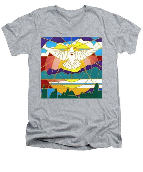 Sun Will Rise With Healing Men's V-Neck T-Shirt