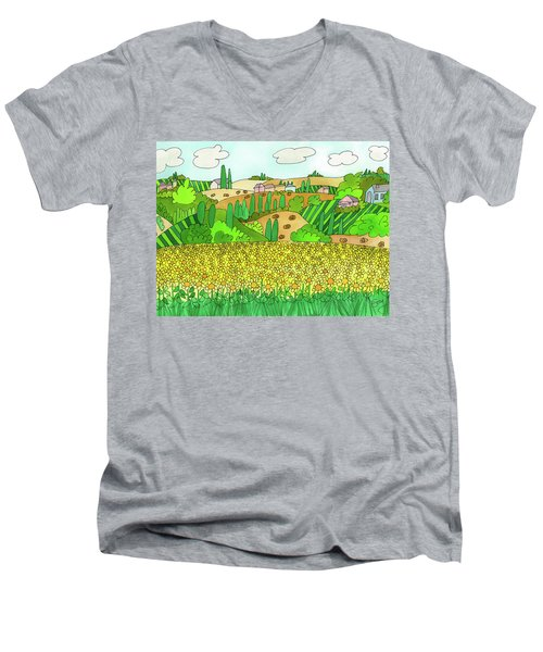 Sunflower French Countryside Men's V-Neck T-Shirt