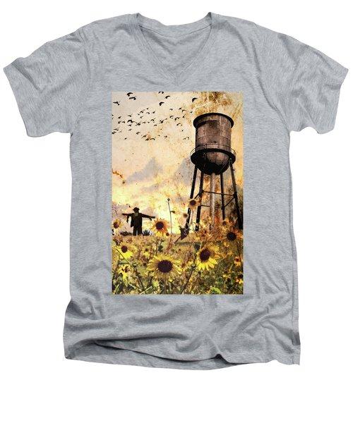 Sunflowers At Dusk Men's V-Neck T-Shirt