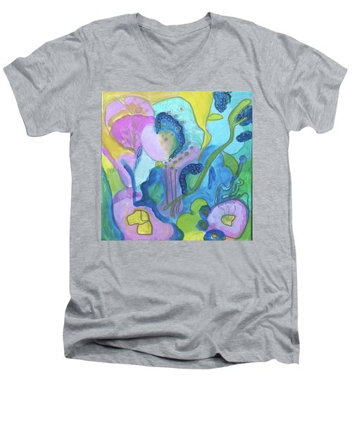 Sunny Day Abstract Men's V-Neck T-Shirt