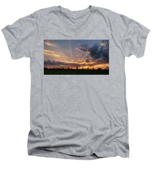 Sunrays At Sunset Men's V-Neck T-Shirt