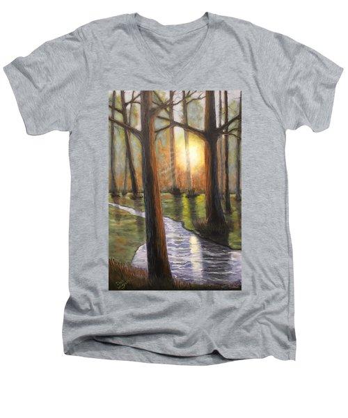 Sunrise Creek II Men's V-Neck T-Shirt