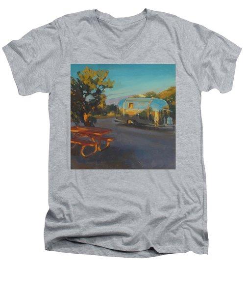 Sunrise In Navajo Monument Men's V-Neck T-Shirt